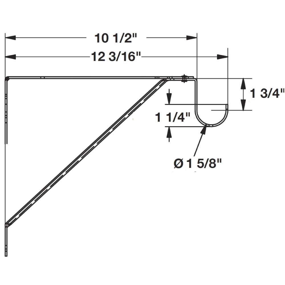 Adjustable Closet Shelf Bracket for Round Rod