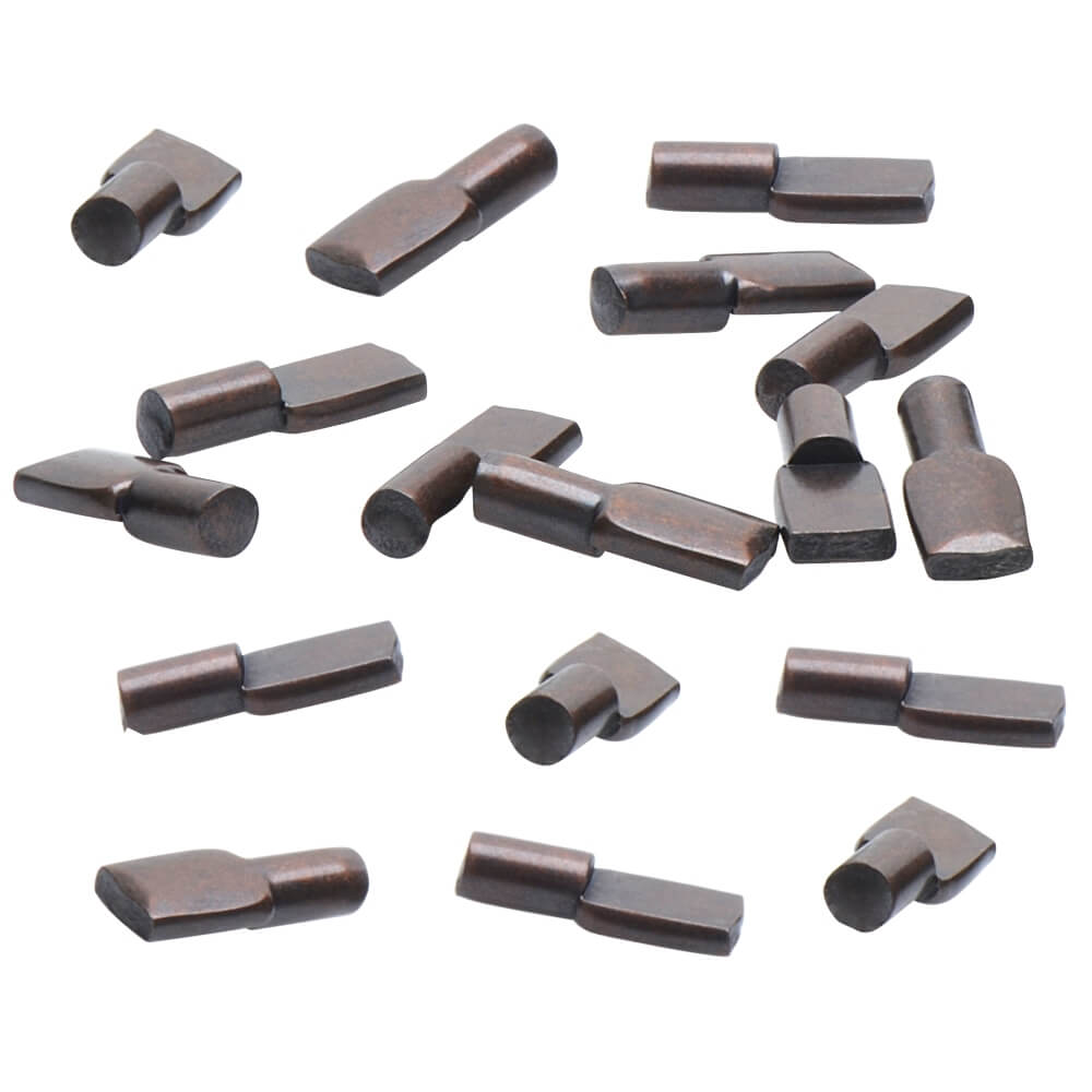 5mm Bronze Spoon Shelf Support Pegs - 25 Pack