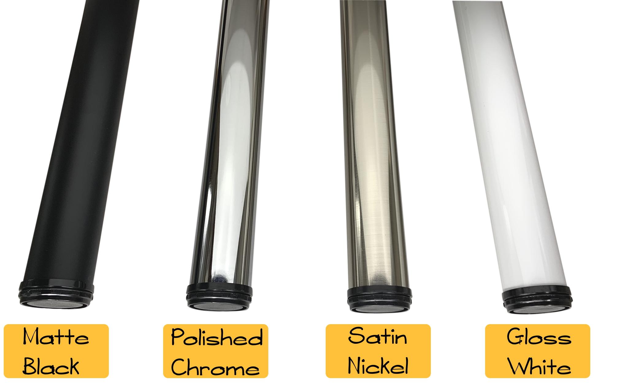 "2 1/4"" Table Legs - Set of 4 - Satin Nickel"