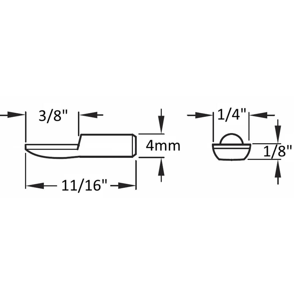 4mm Polished Nickel Spoon Shelf Supports - 25 Pack