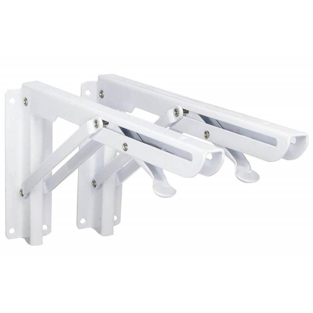 "12"" Pop-Up Folding Shelf Bracket (Pair)"