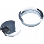 """2-Piece Polished Chrome Wire Grommet w/ """"Brush"""" Opening"""