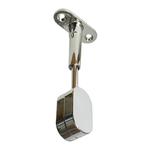 Polished Chrome Adjustable Oval Rod End Support
