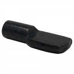 5mm Black Spoon Shelf Support Pegs - 25 Pack