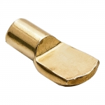 7mm Polished Brass Spoon Shelf Support Pegs - 25 Pack