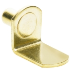 "1/4"" Polished Brass ""Bracket"" Shelf Support Pegs - 25 Pack"