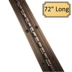 "1 1/2"" x 72"" Heavy Duty Oil Rubbed Bronze Piano Hinge"