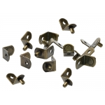"5mm Antique Brass ""Bracket"" With Hole Shelf Support Pegs - 25 Pack"