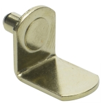 "5mm Polished Brass ""Bracket"" Shelf Support Pegs - 25 Pack"