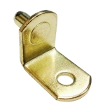 "5mm Polished Brass ""Bracket"" With Hole Shelf Support Pegs - 25 Pack"