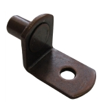 "5mm Bronze ""Bracket"" With Hole Shelf Support Pegs - 25 Pack"