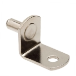 "5mm Polished Nickel ""Bracket"" With Hole Shelf Support Pegs - 25 Pack"