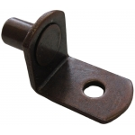 "1/4"" Bronze ""Bracket"" With Hole Shelf Support Pegs - 25 Pack"
