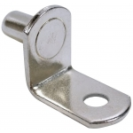 "1/4"" Polished Nickel ""Bracket"" With Hole Shelf Support Pegs - 25 Pack"