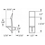 """1/4"""" Self-Locking Cabinet Shelf Support Pegs for 5/8"""" Thick Shelves - Clear - 25 Pack"""