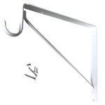 Fixed Closet Shelf Bracket for Round Rod - White