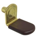 "1/4"" Vinyl Sleeve Polished Brass ""Bracket"" Shelf Support Pegs - 25 Pack"