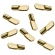 5mm Polished Brass Spoon Shelf Support Pegs - 25 Pack